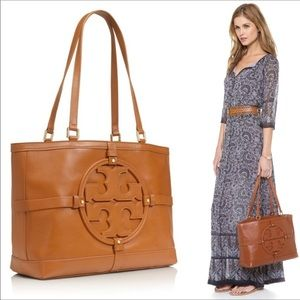 EUC TORY BURCH Tan Holly East West  Tote Bag